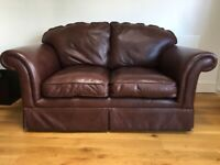 LAURA ASHLEY Winchester 2 seater leather sofa