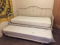2 x Laura Ashley metal day beds
