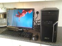 FULL SETUP , ACER PC + 20INCH MONITER , IN NEAR MINT CONDITION