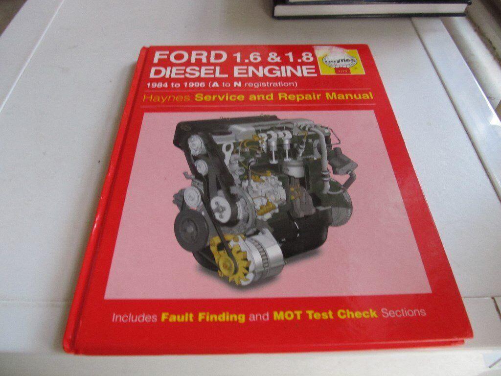 FORD 1.6 & 1.8 DIESEL ENGINE HAYNES MANUAL
