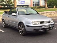 VW GOLF 1.6 PETROL CONVERTIBLE * 1 F/KEEPER * RARE CAR * SERVICE HISTORY * PART EX * DELIVERY