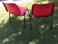 Pair of plastic stacking chairs 2 only nice pair