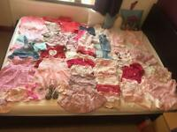 Baby girl bundle (0-6m) 76 items