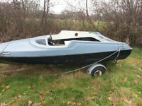 13 ft speed boat hull and teleflex steering