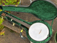 """Chuck Lee Custom Tubaphone Banjo with Tony Pass Lost Timbre Rim and Deluxe """"Superior"""" Hard Case"""