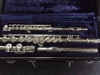 Artley Solid Silver Head Flute & Piccolo Set