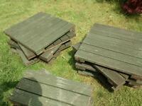 Garden decking tiles 60cm square