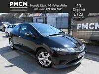 HONDA CIVIC 2010 1.4 I-VTEC TYPE S AUTO - ONLY 41,352 MILES - S.H - golf focus astra (black) 2010