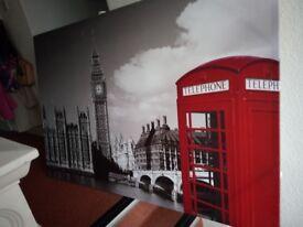 Large canvas print big Ben London glitter scene