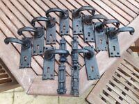 Joblot of Vintage Cast Iron Door Handles / Furniture