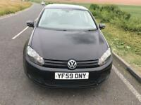 2009 VOLKSWAGEN GOLF MK6 1.6 SE TDI SE 105 BHP BLUEMOTION NEW SHAPE MOT 23/04/2019