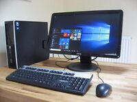 """HP Pro PC System with Dell 22"""" Monitor. Wi-Fi Internet. Dual Core, 4GB RAM, Win 10. Like New."""