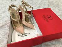 Valentinos nude pink size 6 uk eu 39 brand new with dust bags £110