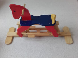 Wooden Rocking Gliding Horse John Crane Pintoy