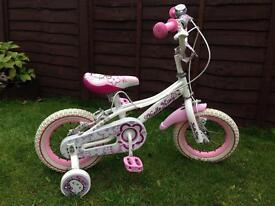 Hello kitty bike with stabilisers, ideal present