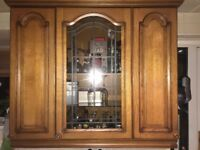 Kitchen wall cabinet 110 cm Wide 100cm High 30cm deep wood glass middle