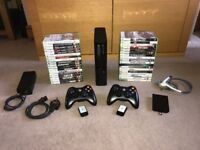 Xbox 360 500GB - 2 Controllers - 36 Games