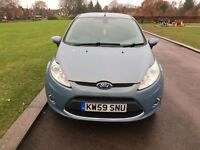 2010 (59) FORD FIESTA 1.4 TITANIUM 95 FULLY LOADED ALLOYS AUTO LIGHTS WIPERS AC LONG MOT MET BLUE