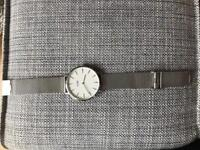 Cluse Mesh Silver Watch