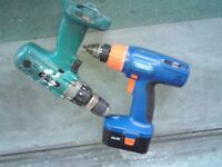DRAPER 71385 - WITHOUT CHARGER + UNKNOWN MAKITA CORDLESS DRILL ONLY, N LDN N8 E**Y ITEM 262902017244