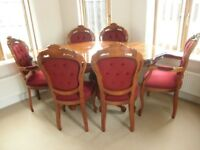 Italian Design Dining Table & 6 Chairs