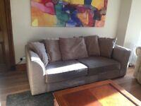 Sofa 3 seater in two tone.