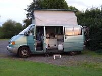 Volkswagen Bilbo Conversion Celeste T4 Green Pop-Top Roof 2-Berth with Awning