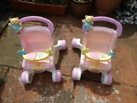 Two doll trolley's Will seperate if necessary.Lovely and clean
