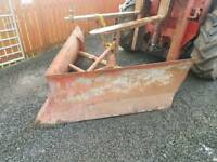 Tractor three point linkage v snow plough