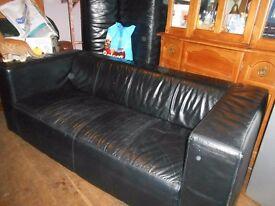 sofas 2 x 3 real leather sofas