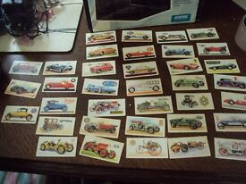 brooke bond tea cards , history of the motor car 38 cards