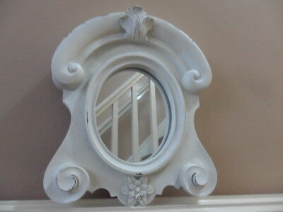 antique style small shabby chic hall or bathroom mirror oval vanity mirror M1/65