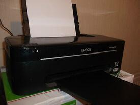 Epson Stylus S22 Printer with 7 extra ink cartridges
