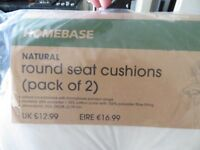 Garden Chair Seat Cushions x8 - Round and Brand New
