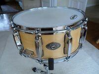 """Tama Artwood 14"""" x 6.5"""" Maple snare drum - 10 lugs - Superb drum"""