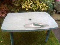 FREE Garden table and four chairs