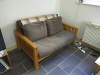 2 Seater Solid Real Oak Sofa Bed - 150 (new in shop 679)