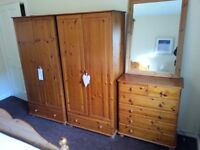 bed, chair and one wardrobe left