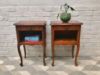 Pair of Bedside Tables French Vintage #710