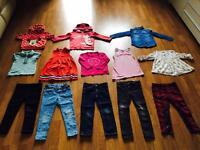 GIRLS DESIGNER CLOTHES BUNDLE AGE 3-4