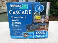 Fountain pump, Hozelock Cascade 700LPH, pump only