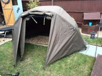 Fishing Bivvy, Bedchair and Sleeping bag.