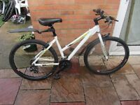ladies raleigh mountain bike 17inch frame with lock £59.00