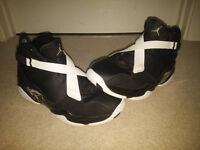 Jordan 8.0, Black and White, Size 9 Uk