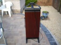 corby 3300 trouser press with jacket attachment. In mahogany effect and very good condition