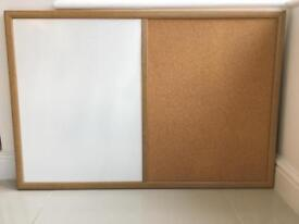 Cork and wipe clean notice board large