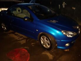 206cc 1.6 16v convertible.....long mot....new clutch.....