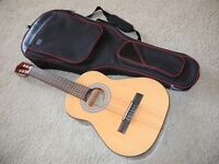 1/2 Classic Acoustic Guitar Spanish brand Jose Ferrer + Carrying Protective Case