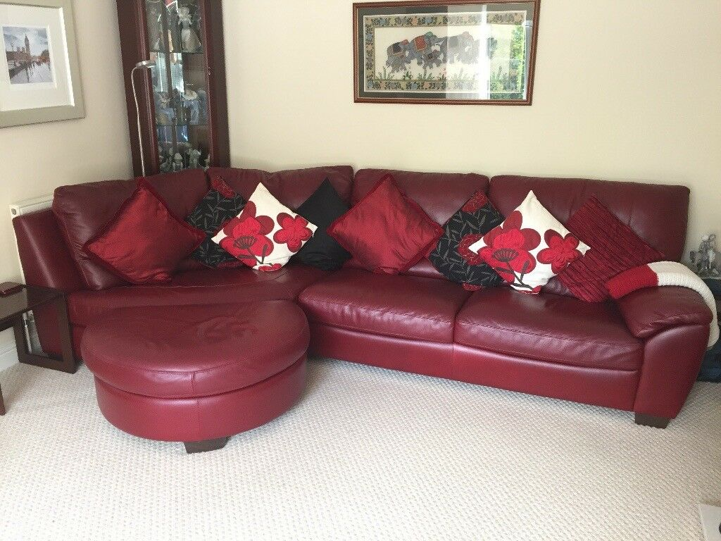 Leather Natuzzi Suite Includes Sofa Recliner Chair