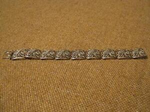 ███►altes Armband mit Markasit/800er Silber - um 1920 (Fach 19)